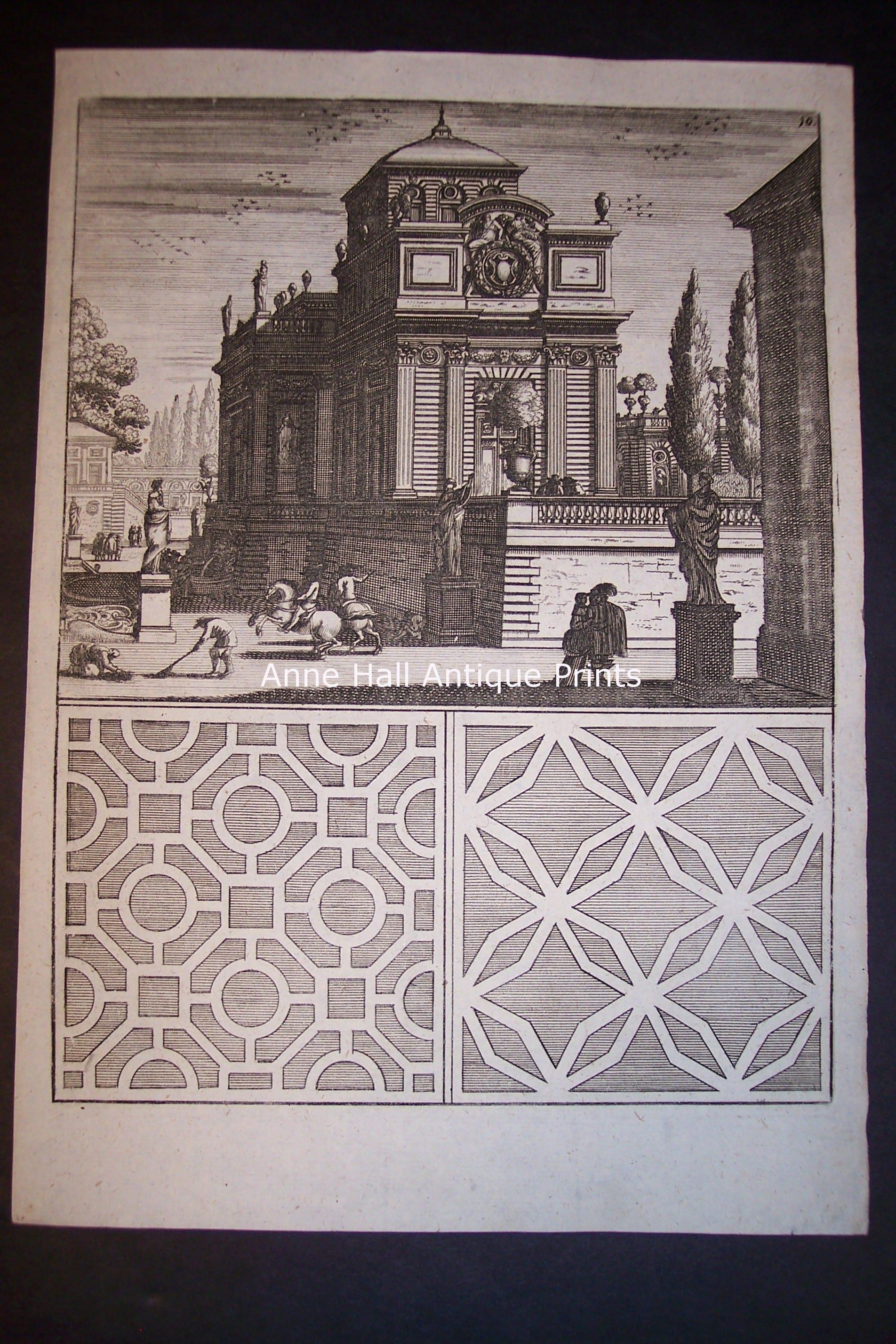 Architecture Bockler Fountain Print 0288
