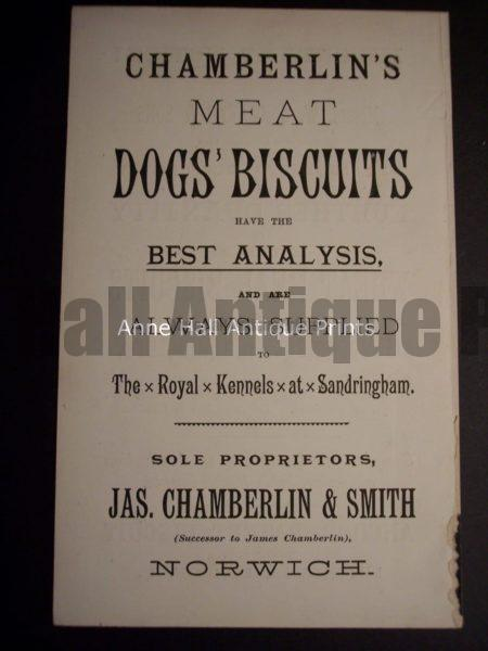 Dog Advertising Ephemera c.1900