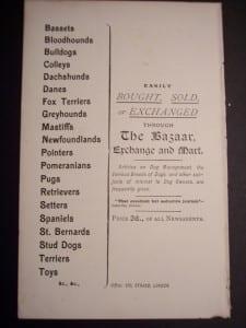Dog Advertising Ephemera c.1900
