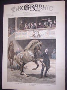 Horses Horse Show Hand Colored Engraving from 1891. 11x16. 0496 125.