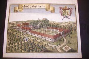 Werning Bavaria Rare Hand Colored Castle Engraving 1703. #1579
