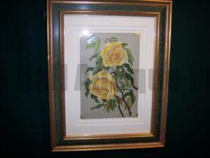 6162 Antique Rose Lithograph Framed