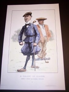 """Golf Repro Hand colored reproduction. 11x17"""" 45."""