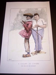 "Golf Repro Hand colored reproduction. 11x17"" 45."