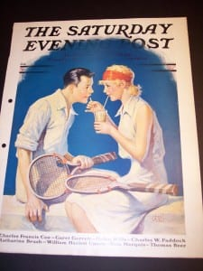 "6864 Antique Tennis Print @ 11x16"" $85."