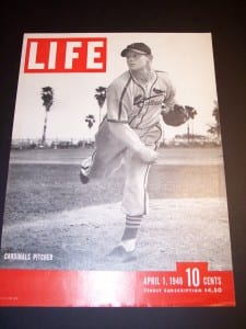 "Old Baseball Life Magazine front cover @ 10x16"" $45."