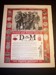 "c. 1920 Baseball Ad @ 10x16"" $45."