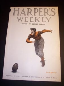 "Old football front cover of Harpers Weekly @ 11x16"" $75."