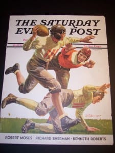 old front cover from Saturday Evening Post Football c. 1920 $75.