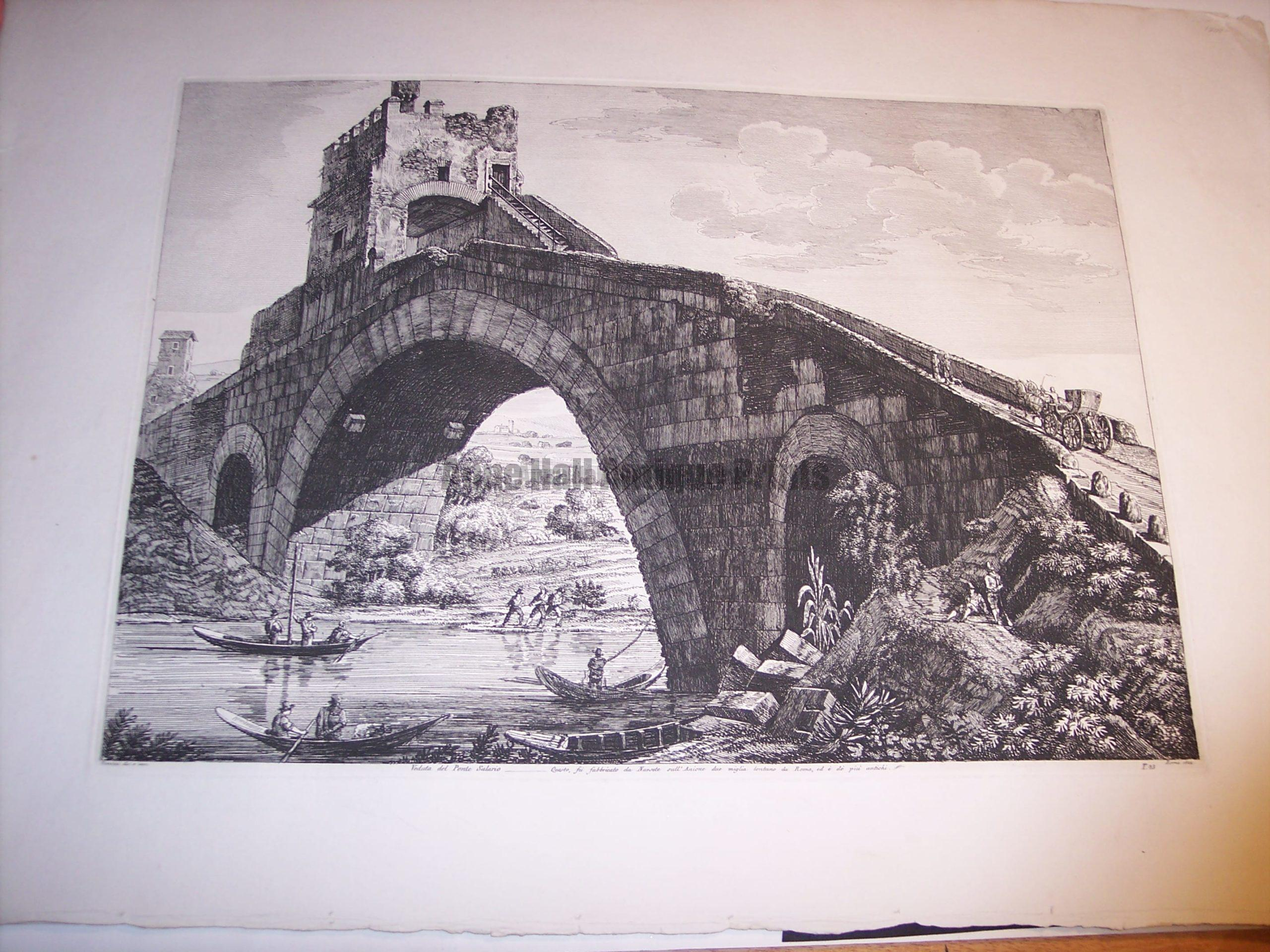 Rossini Etching of Rome 8060