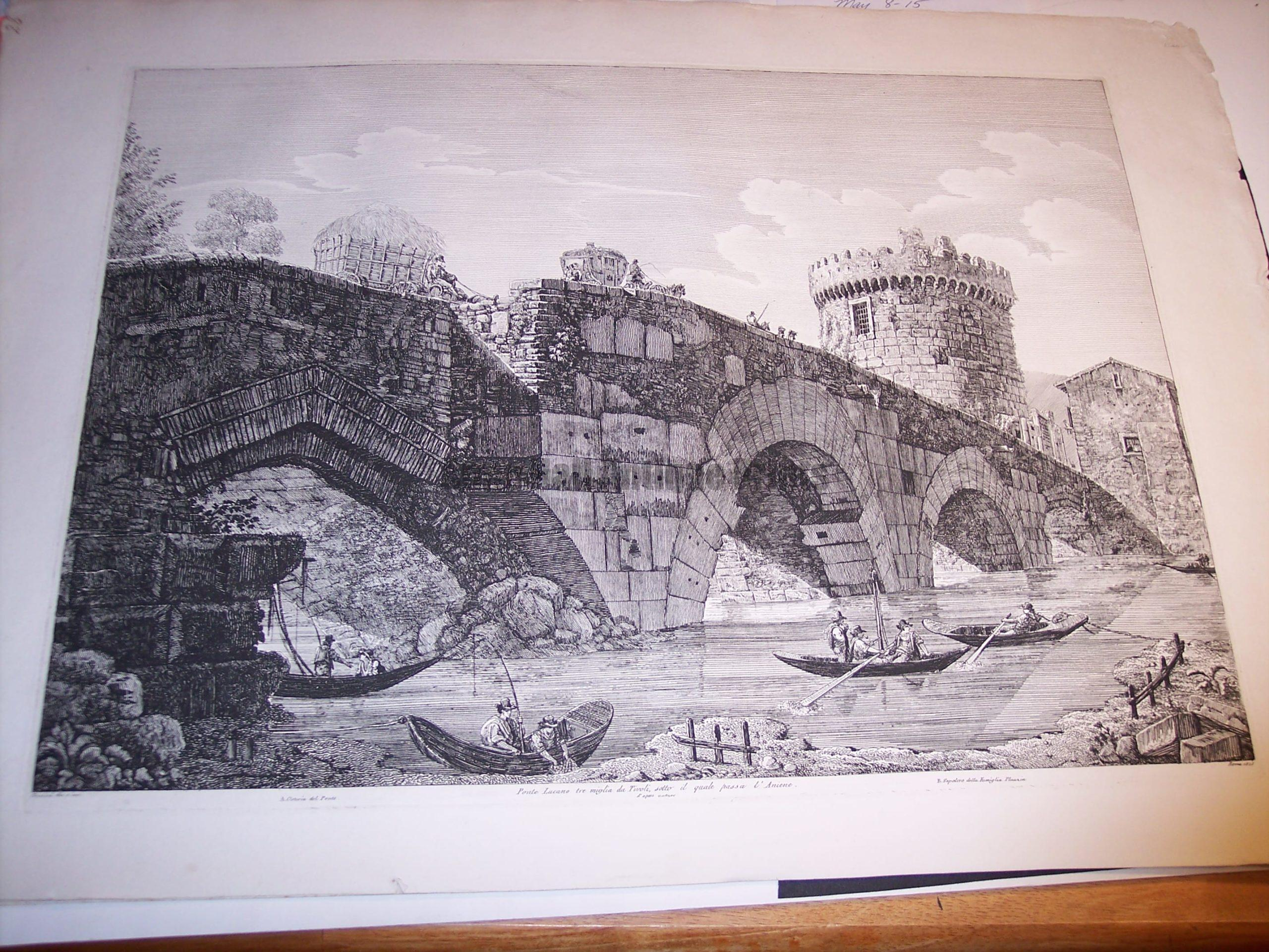 Rossini Etching of Rome 8061