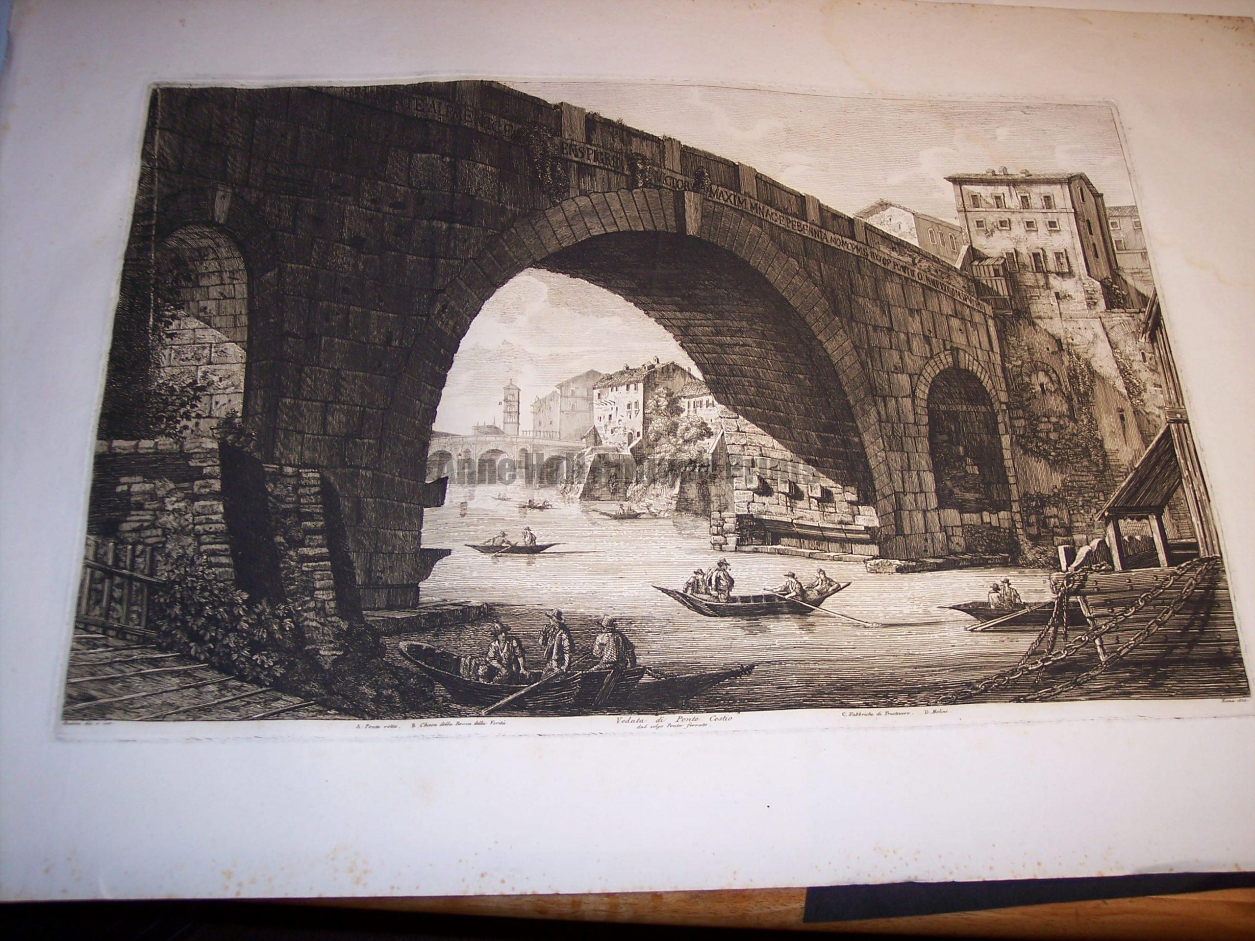 Rossini Etching of Rome 8063
