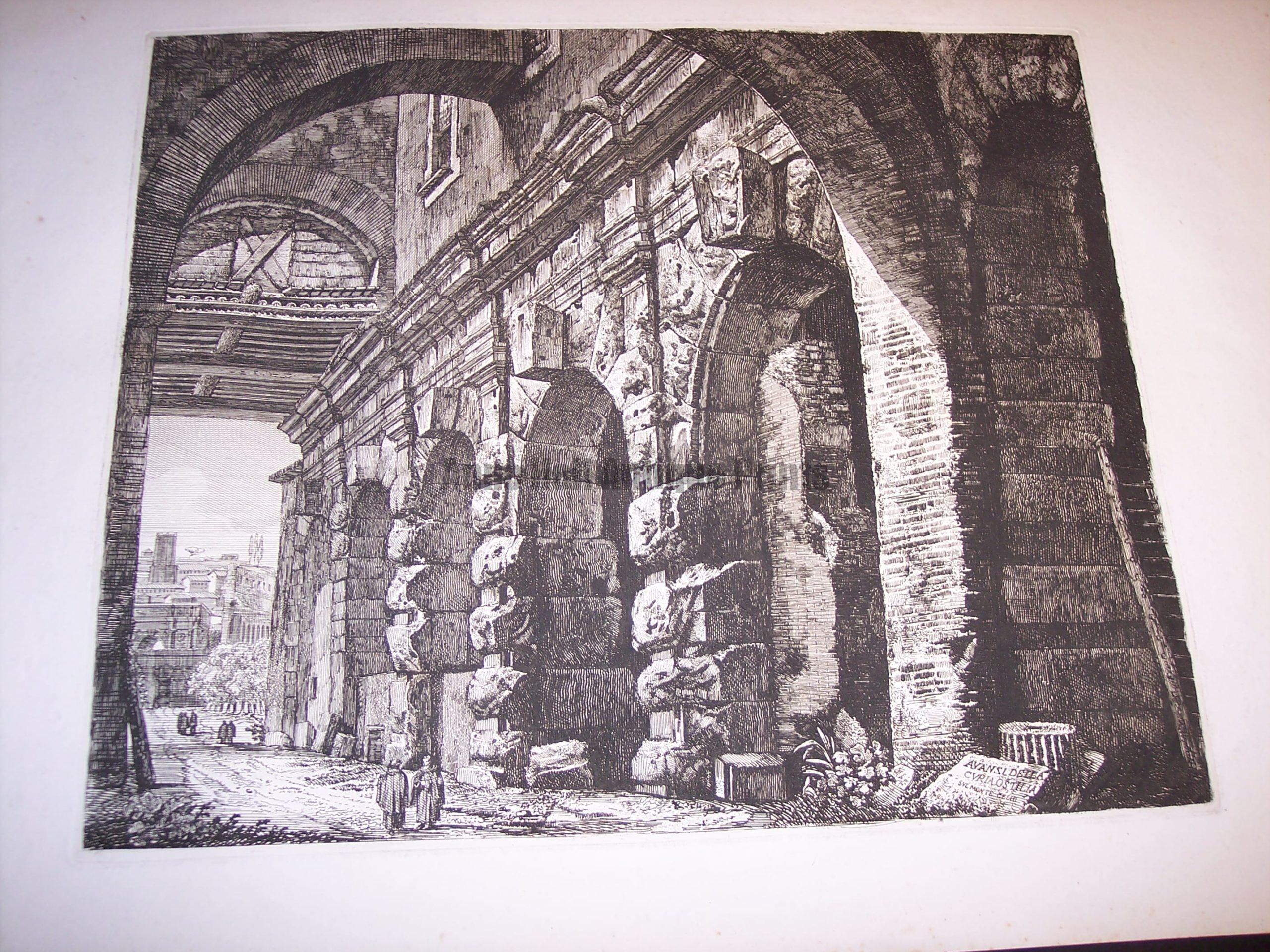 Rossini Engraving of Rome 8064