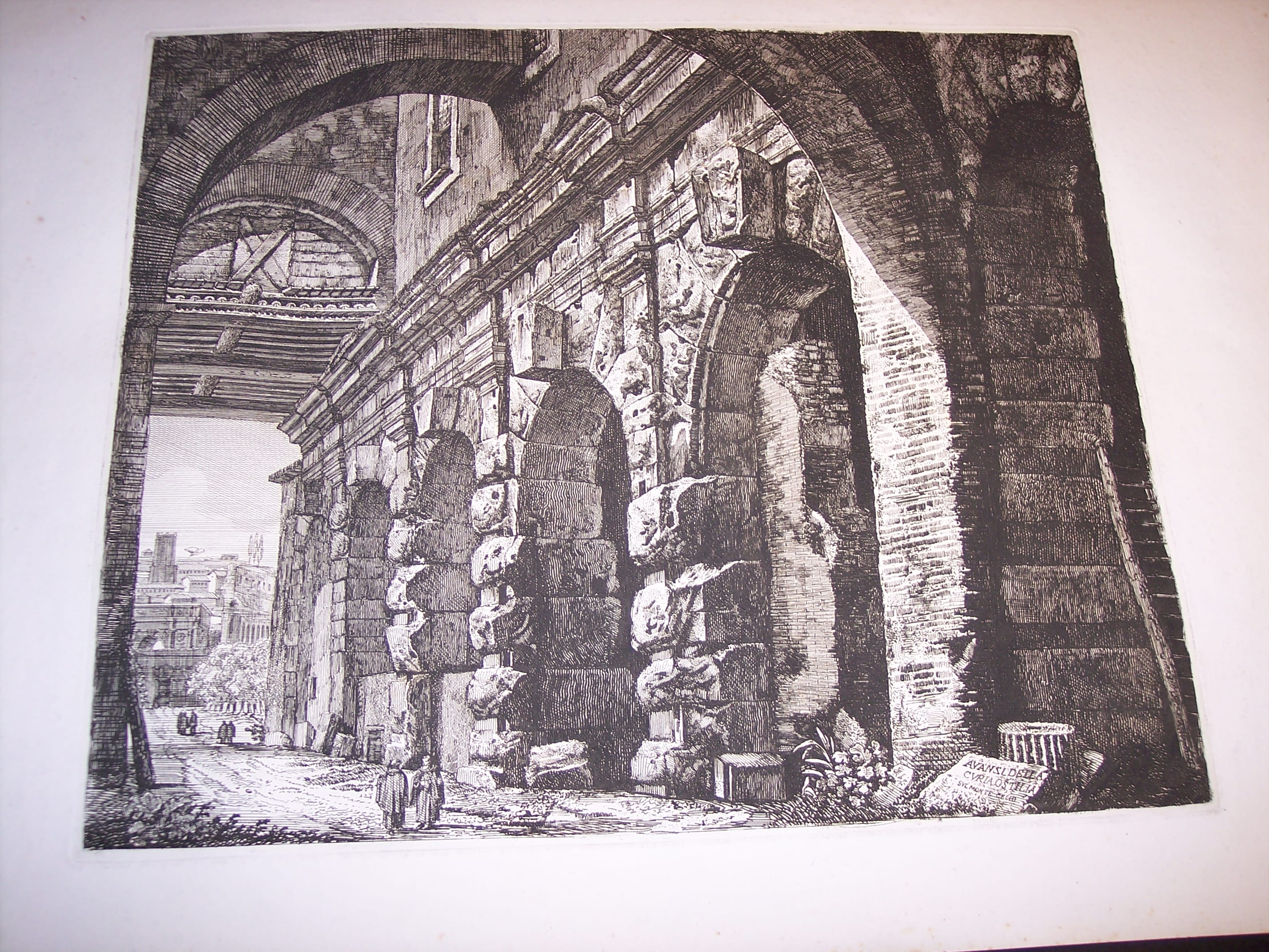 Rossini Engraving of Rome 8064