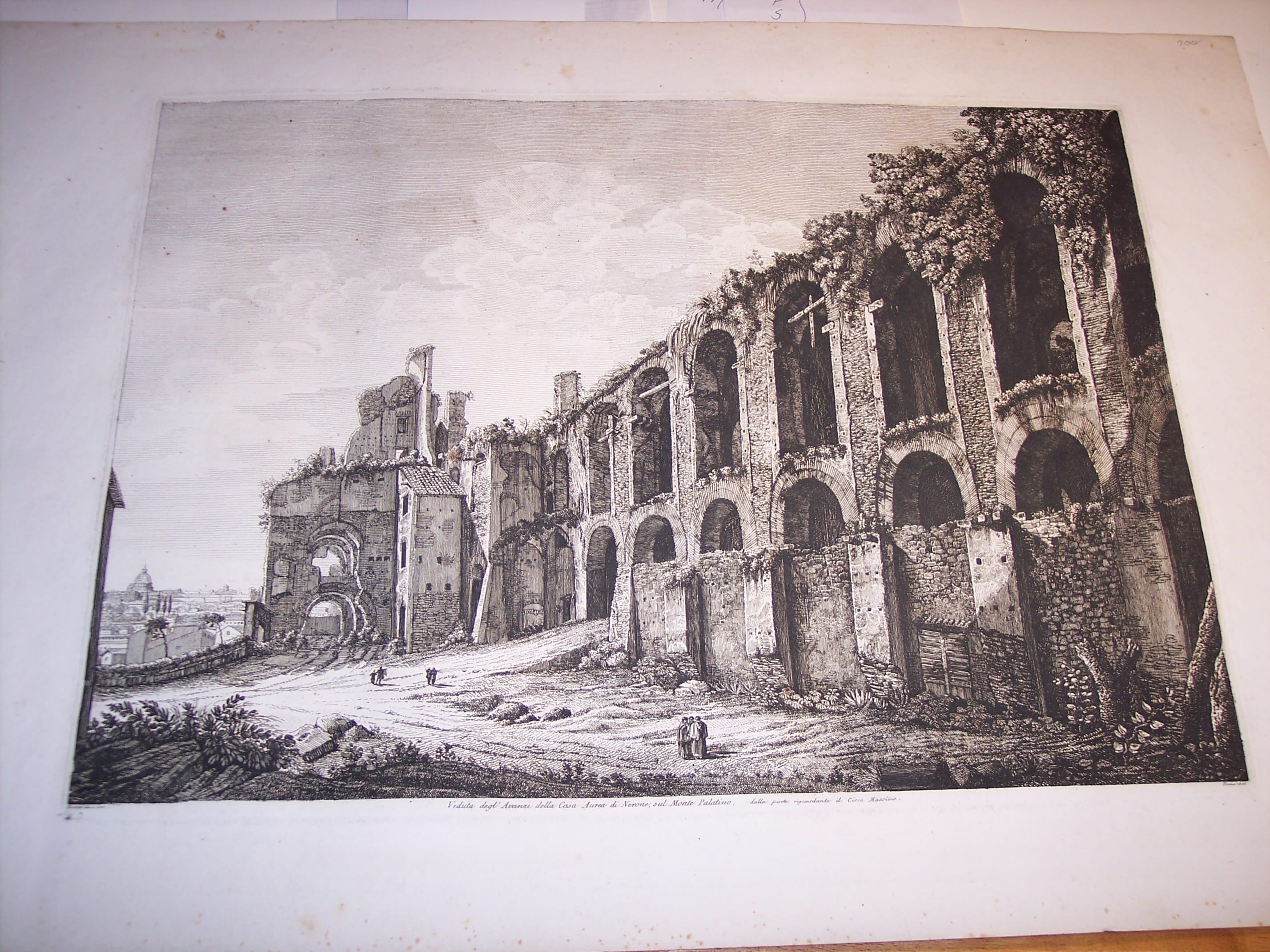 Rossini Engraving of Rome 8065
