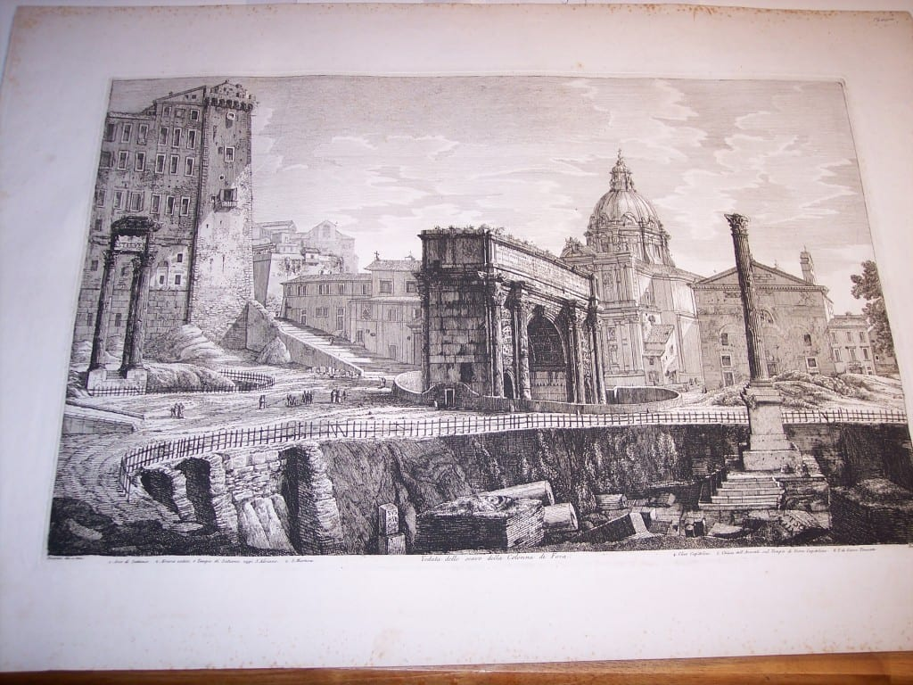 Rossini Engraving of Rome 8067