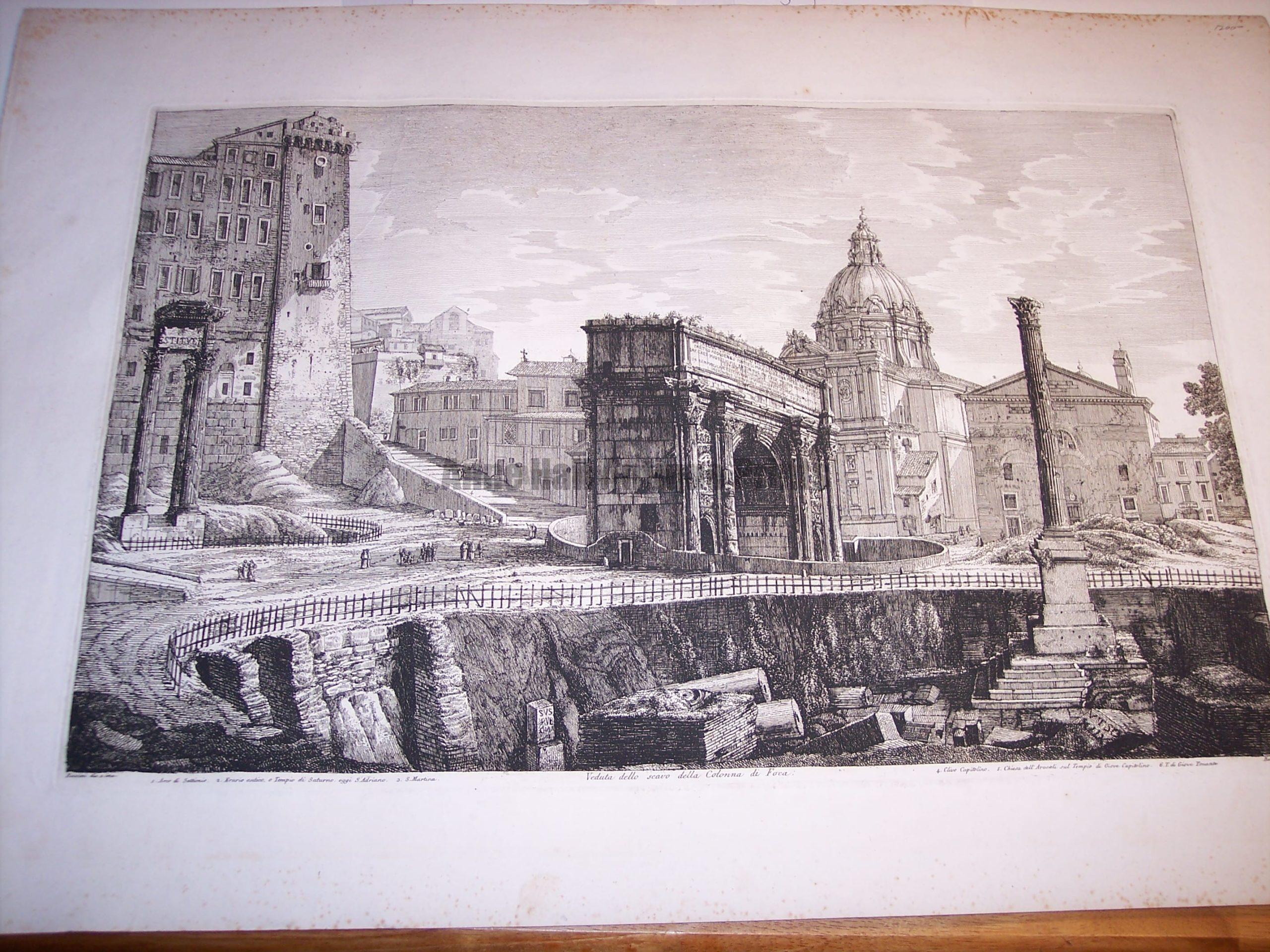 Rossini Engraving of Rome 8067