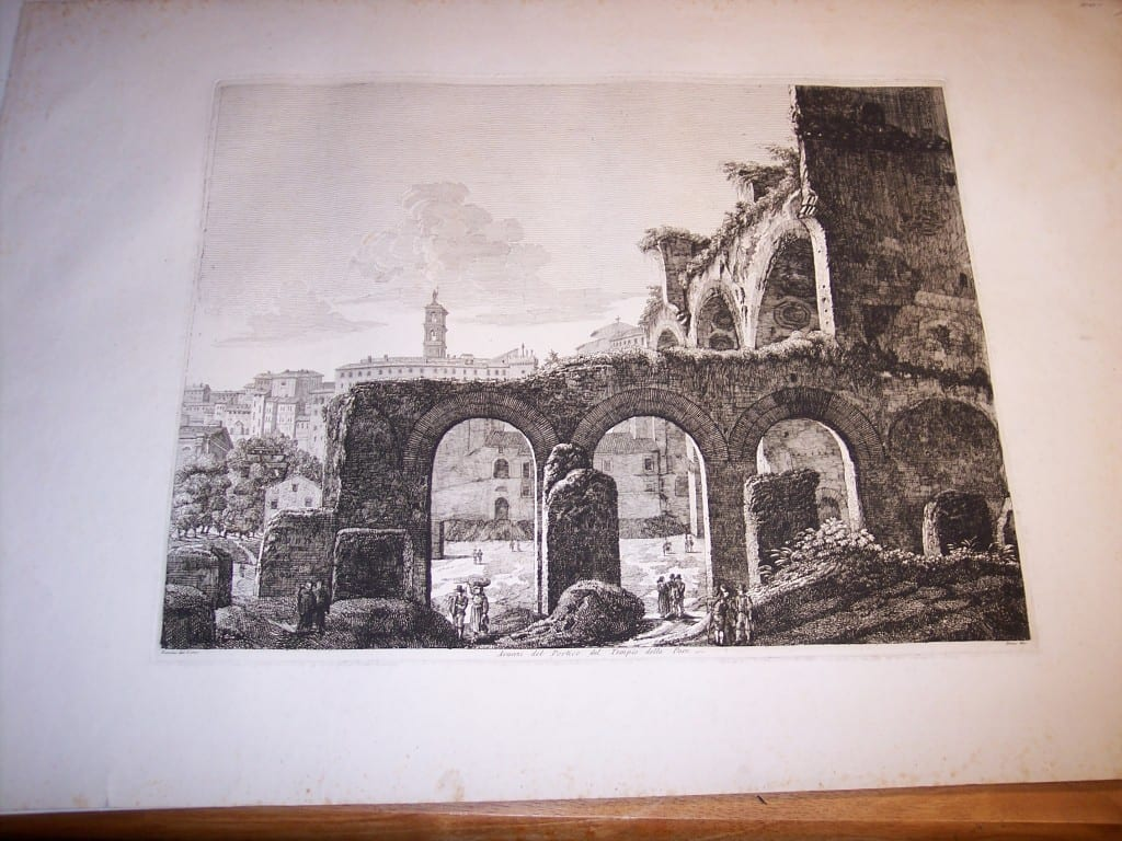 Rossini Engraving of Rome 8068
