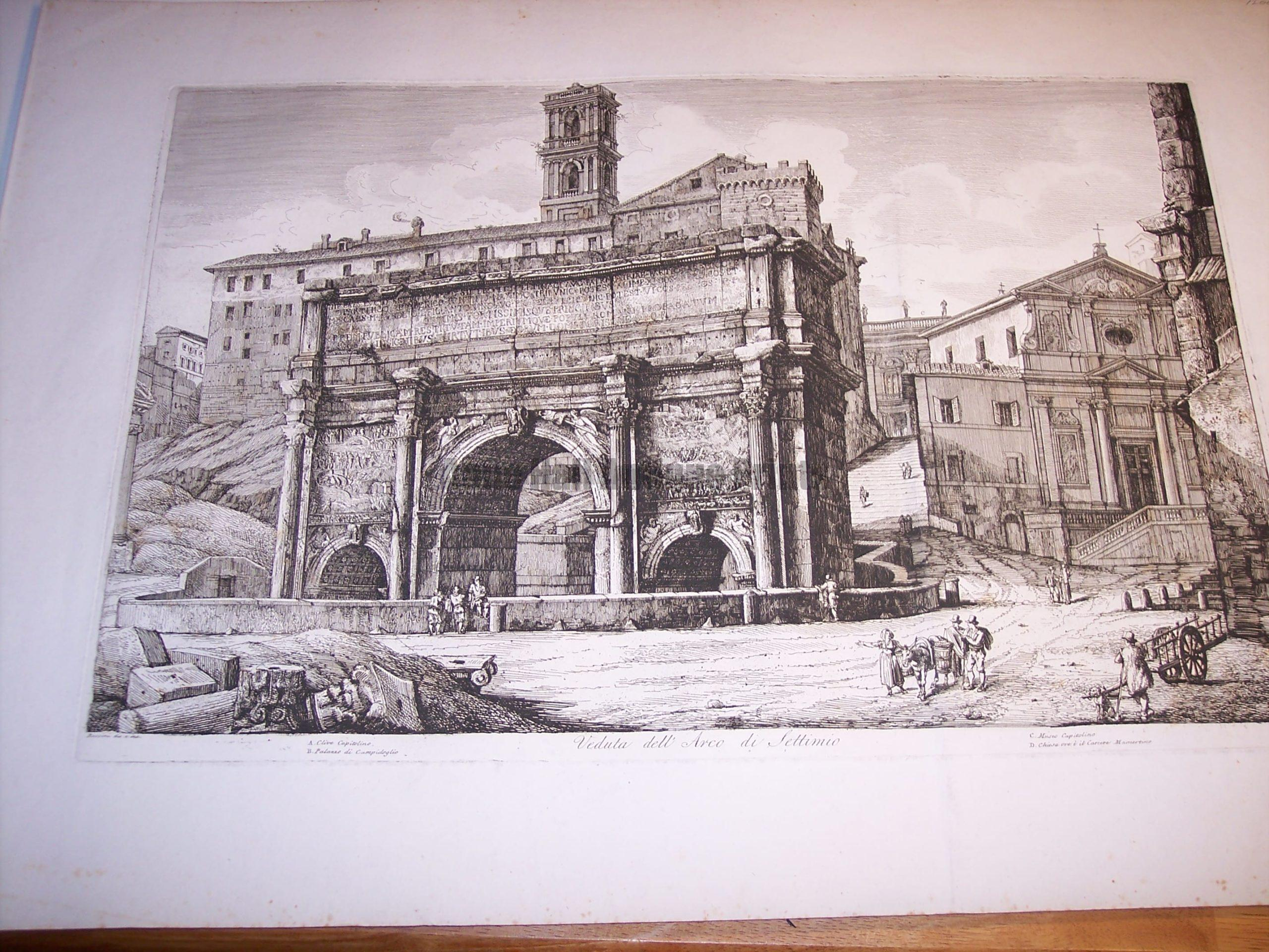 Rossini Etching of Rome 8070