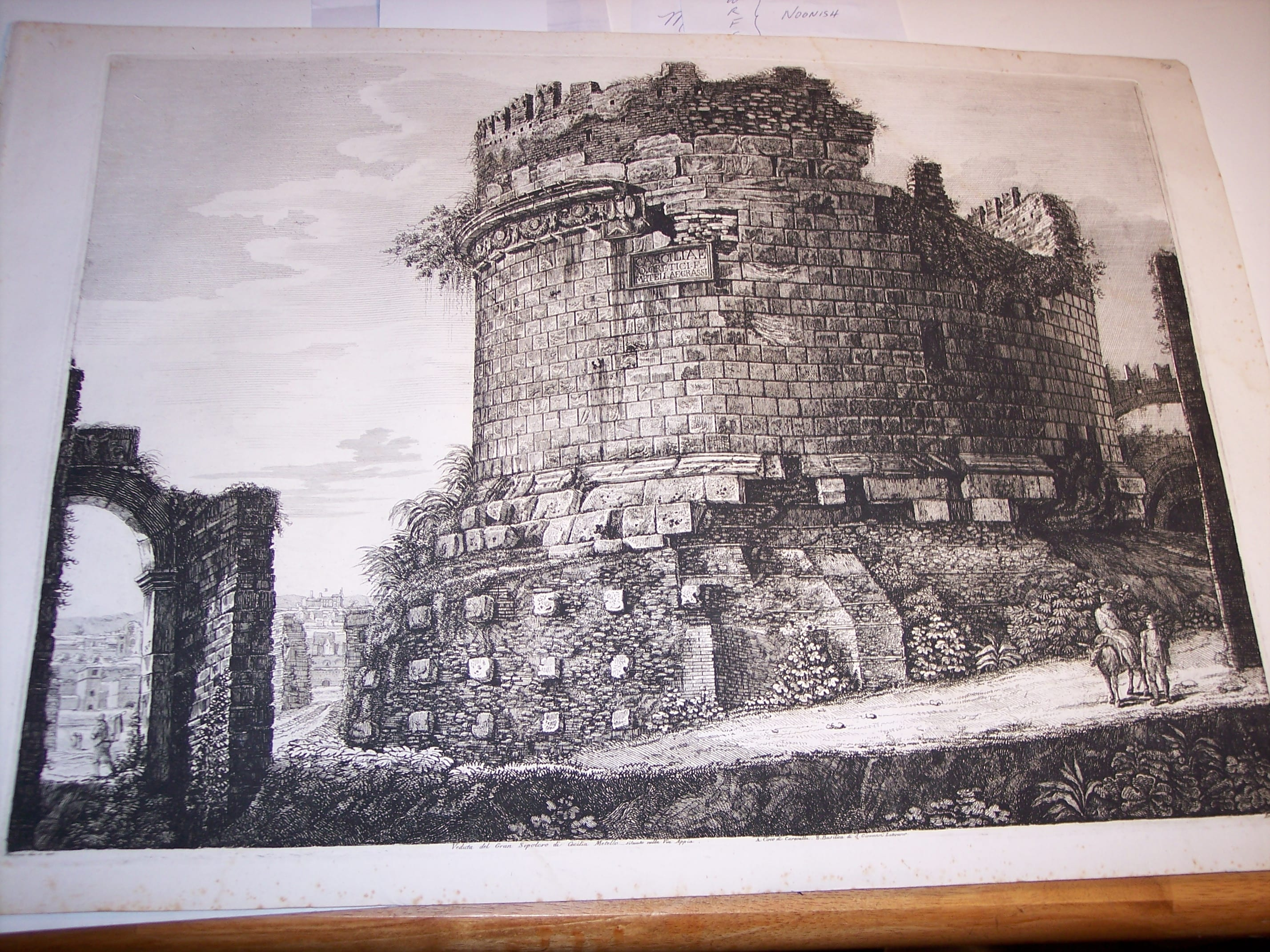 Rossini Etching of Rome 8072