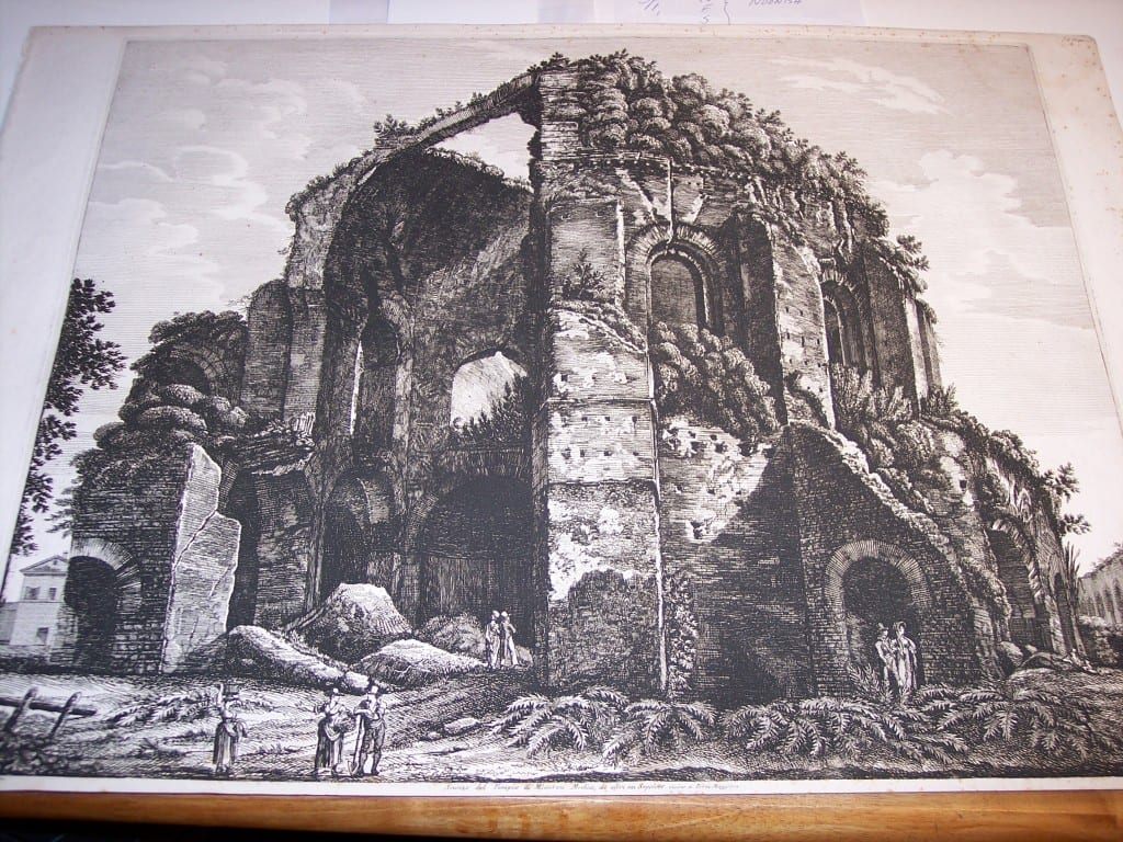 Rossini Etching of Rome 8073