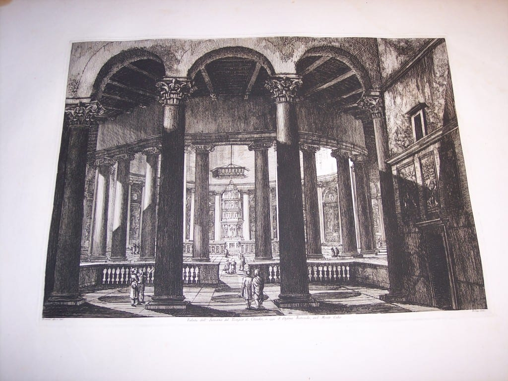 Rossini Etching of Rome 8074
