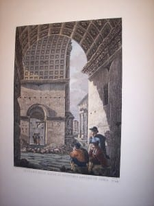 Rossini c.1820 engraving with water colors 8081