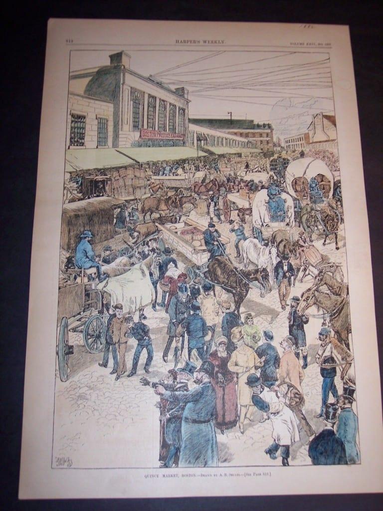 Quincy Market, Boston, 1882. $75.