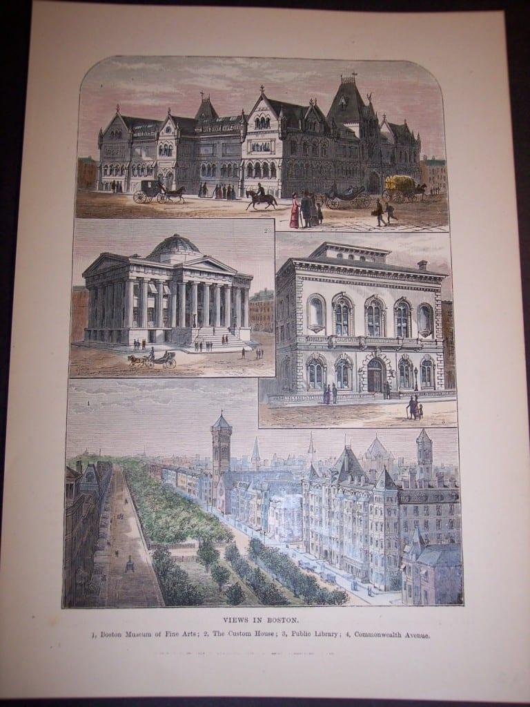Views in Boston, c.1870. $40.