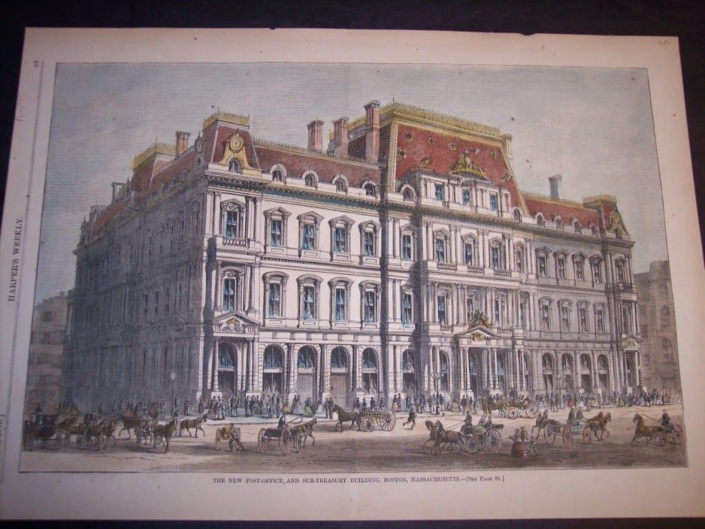 The New Post-Office and Sub-Treasury Building, Boston, Massachusetts, February 5, 1870. $75.