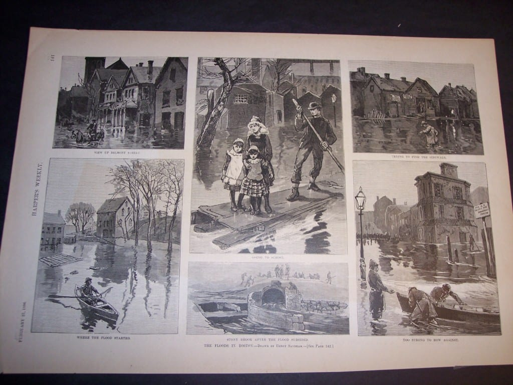The Floods in Boston, February 27, 1886. $40.