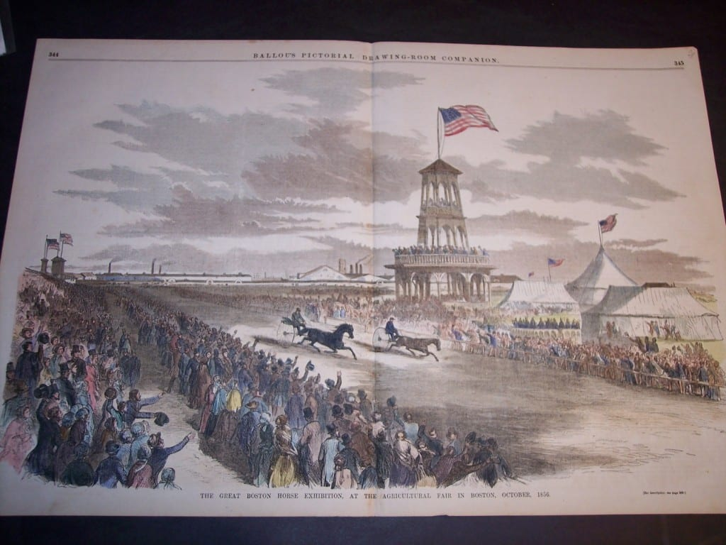 The Great Boston Horse Exhibition at the Agricultural Fair in Boston, October, 1856. $120.