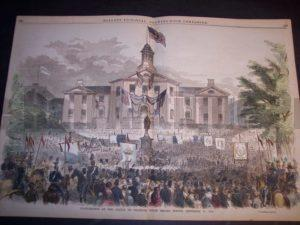 Inauguration of the Statue of Franklin, Court Square, Boston, September 17, 1856. $180.