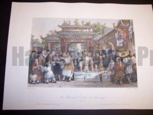 Chinoiserie Engraving. Old Allom View from1855.