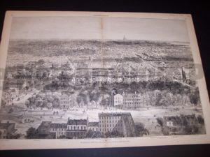 9679 Birdseye View of Washington City, DC from 1869 $300.