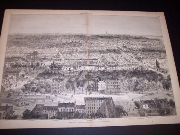 9679 Birdseye View of Washington City, DC from 1869 $300.