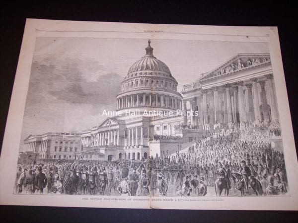 Old Engraving of the Capitol Building in Washington DC $300.