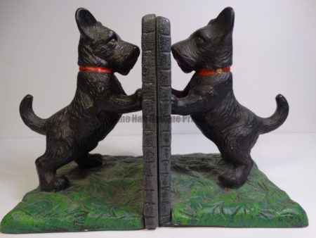 old bookends scottie dogs