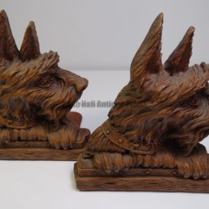 vintage bookends westie