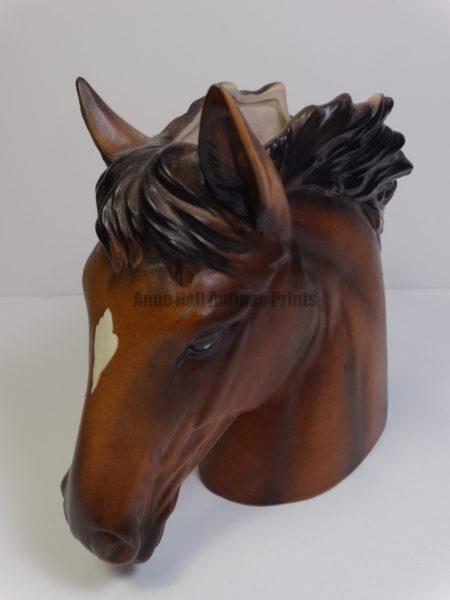old flower vase horse