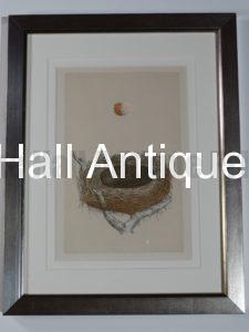 old nest lithograph modern frame