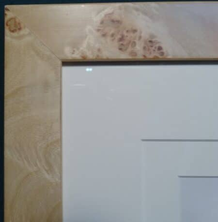 blonde burl wood professional picture framing