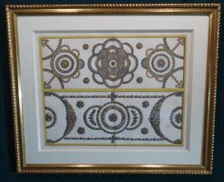 Albertus Seba sea shells, antique design engraving.