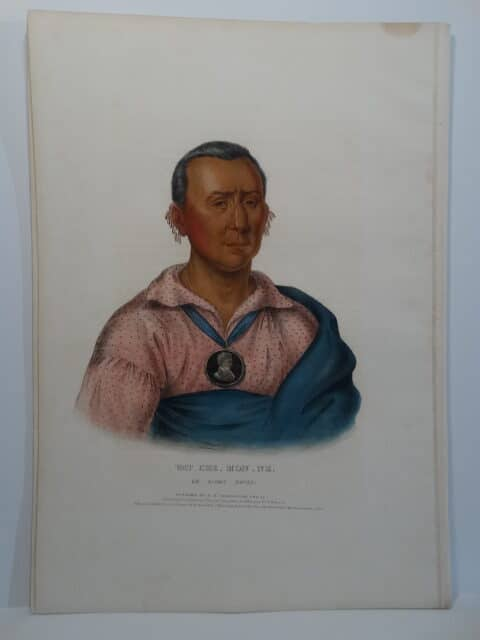 WAT-CHE-MON-NE is a 1838 folio lithograph from Tribes of North America.