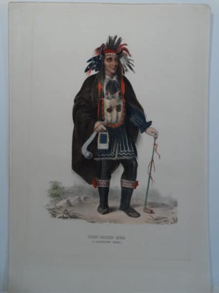 OKEE-MAKEE-QUID is full length folio McKenney Hall lithograph with later watercolors.