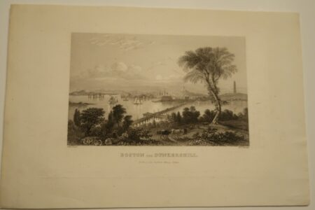 A rare German engraving of Boston in the 1850's.