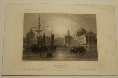 """The image is of an original engraving sourced from the 19th century book entitled """"Myers Universum,"""" c.1850."""