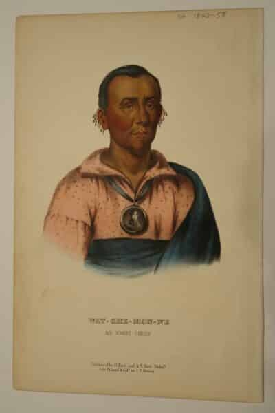 American Indian Antique Lithographs by McKenney & Hall 1854-1855