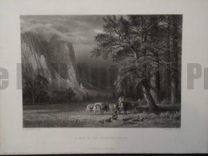 A Halt in the Yosemite Valley, c.1880. $125.