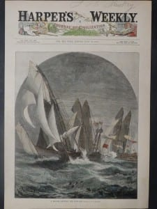 A Regatta - Rounding the Light-Ship, July 30, 1881. $50.